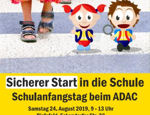 Sicherer Start in die Schule Schulanfangstag beim ADAC